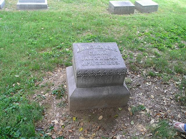 Meriwether Lewis Clark    		He was the grandson of William Clark who was made famous through the  Lewis and Clark Expodition.  He was the founder of the Louisville  Jockey Club and an architect to Churchhill Downs which is where the  Kentucky Derby is ran every year.  He is buried in Cave Hill Cemetery  in Louisville, Ky.