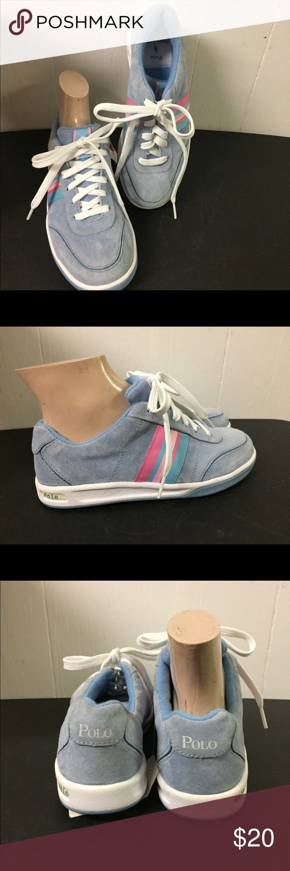 Polo Ralph Lauren Light Blue Suede Leather Shoes Brand new excellent clean condition.  Size 6. Polo by Ralph Lauren Shoes