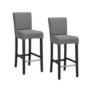 Achetez votre Lot de 2 chaises de bar déhoussables grises Elvis et faites le plein de promotion sur le salon. 20€ offerts pour 200€ et 40€ offerts pour 400€ d'achat. Livraison offerte dès 25€ ✓