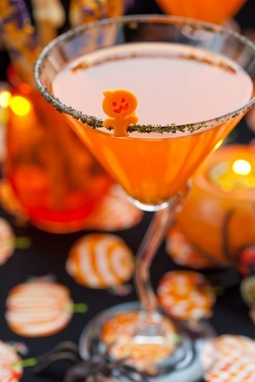 Spooky Halloween Punch.  May need to make one (or two) of these to get through Hurricane Sandy!