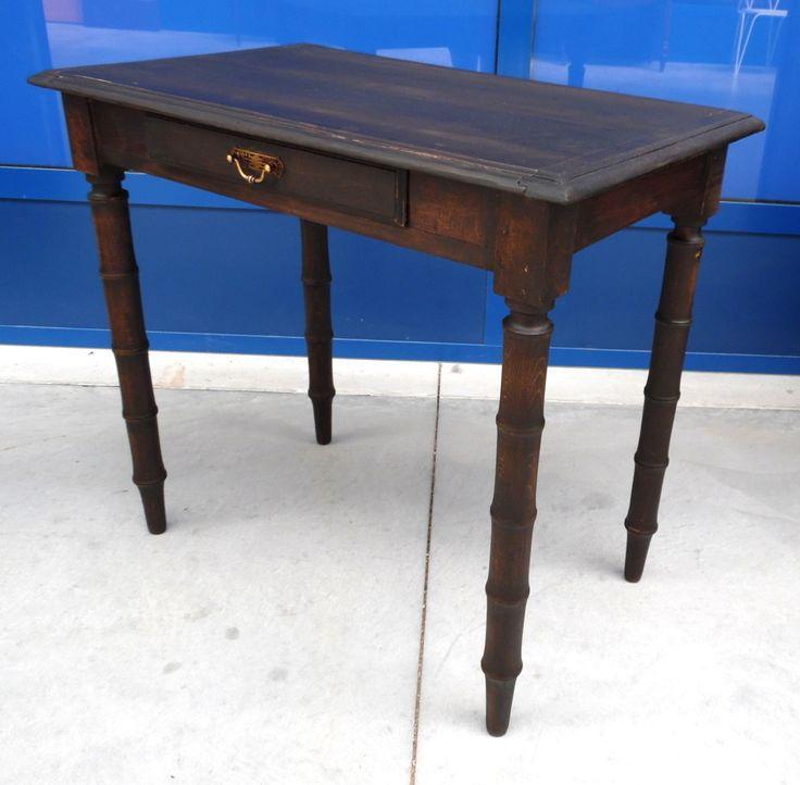 Tavolino Napoleone III '800 faggio decorato a finto bambù
