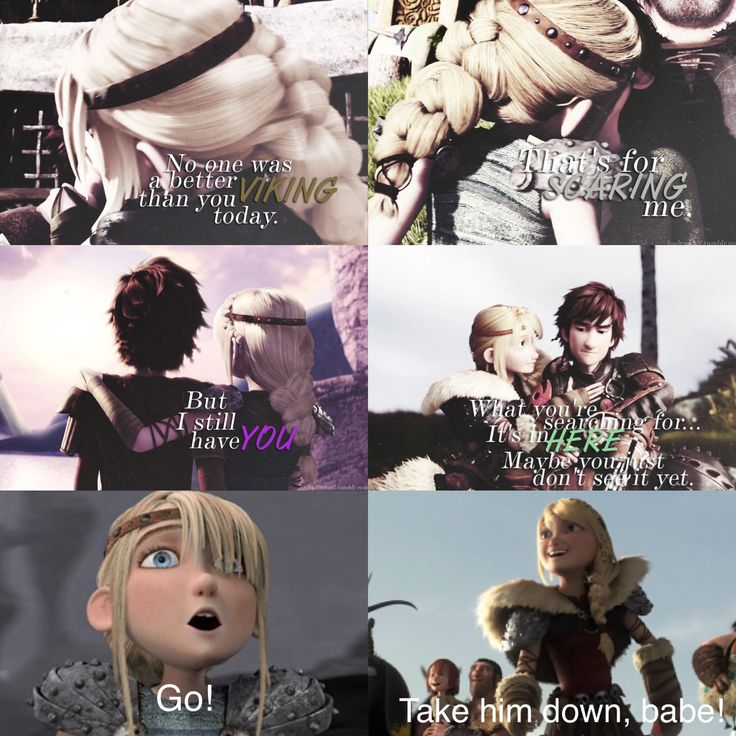 I just love these two together! Hiccup and Astrid are perfect for each other. They are seriously the best couple ever. :)