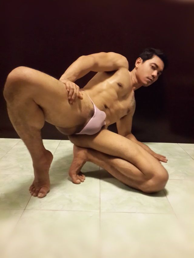 Asian men naked hung
