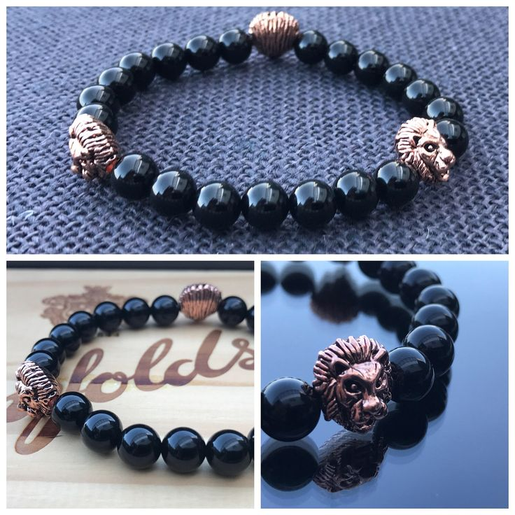 A personal favourite from my Etsy shop https://www.etsy.com/au/listing/523768023/rose-gold-lion-bracelet-with-black-onyx