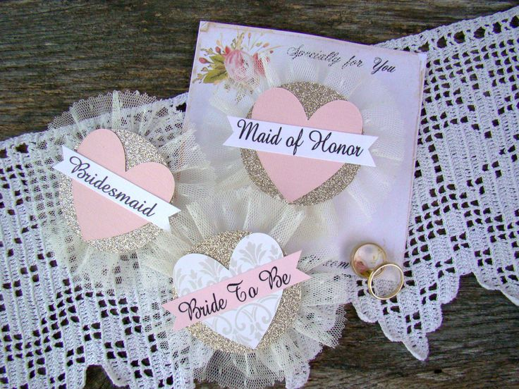 Bride To Be Pin Bride Badge Bridal Shower Corsage Heart