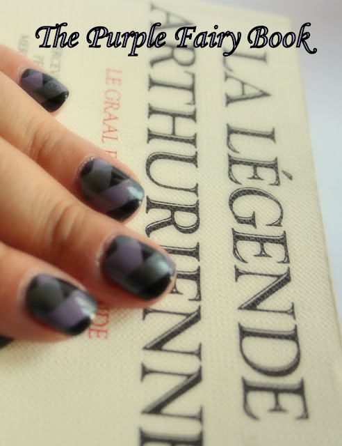 braided nails tute @purple fairy book. a-england's lancelot, guinevere & king arthur polishes  http://nailartpaintersp.blogspot.com.es/