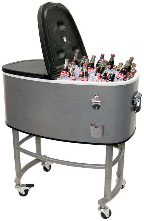 Delightful Steel Patio Deck Outdoor Bar Kitchen Cooler With Cart 82 Quart Capacity  From Jinhua Dongrun