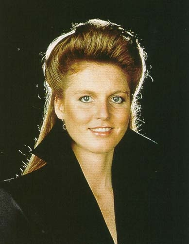 Sarah Ferguson in a portrait taken by her husband Prince Andrew to commemorate her birthday October 1987