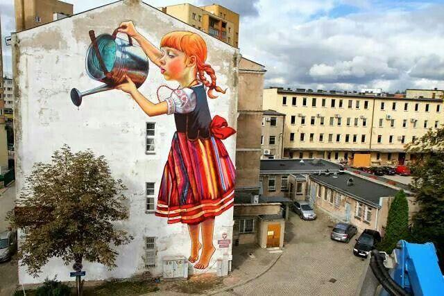 Creative street art by Natalia Rak