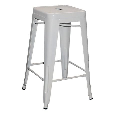 Living & Co Living & Co Metal Stool White Tall 66cm - Shop stylish and functional Bar Stools from The Warehouse NZ