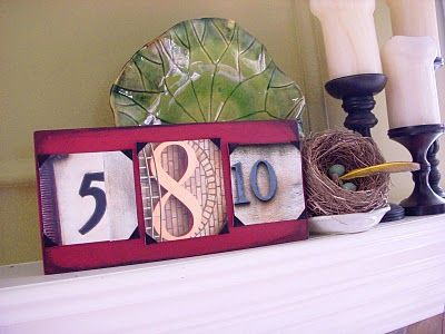 Find numbers in the real world that represent the date of your wedding and display them as art