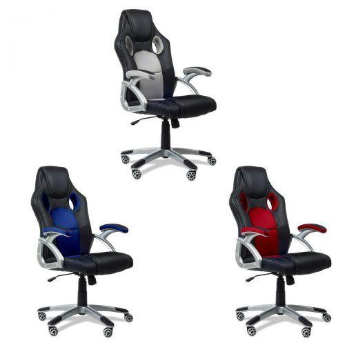 Silla despacho Mchaus silla estilo deportivo Azul/Rojo/Gris por 69 €  Os taremos una #silla de oficina o para jugar a vuestros juegos favoritos por muy poco #dinero, os dejamos un listado con mas sillas #gamer y de oficina para que echéis un vistazo.  #chollos #ofertas #gamer