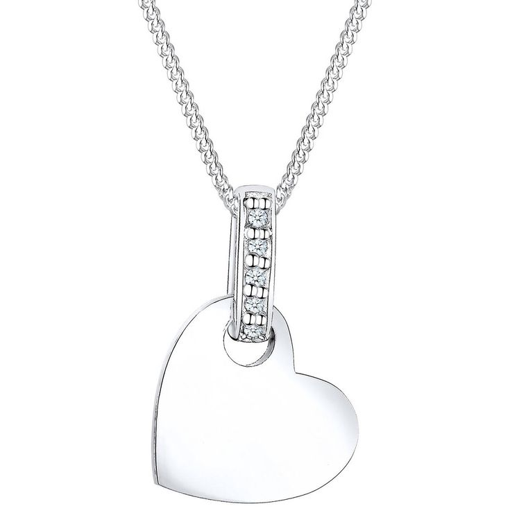 DIAMORE Halskette Herz Liebe Diamant (0.05 Ct.) 925 Silber – GALERIA Karstadt Kaufhof