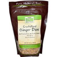 Now Foods, Real Food, Crystallized Ginger Dices, 16 oz (454 g) -  засахаренный имбирь.   имбирные кубики в тростниковом сиропе поэтому на вкус сладенькие и очень ароматные. Но чаще использую его для быстрого имбирного чая, просто заливая кипятком и добавляя в чашку чайный пакетик (хотя можно обойтись и без него, но так больше терпкости). Имбирь как и все сухофрукты от Нау Фудс — не обработан серой, поэтому хранить в холодильнике.