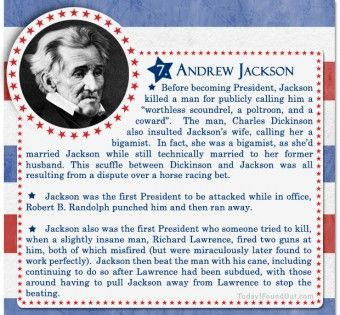 100+ Facts About US Presidents 7- Andrew Jackson