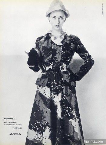 Schiaparelli (Couture) 1953 Photo Guy Arsac, Jean Page