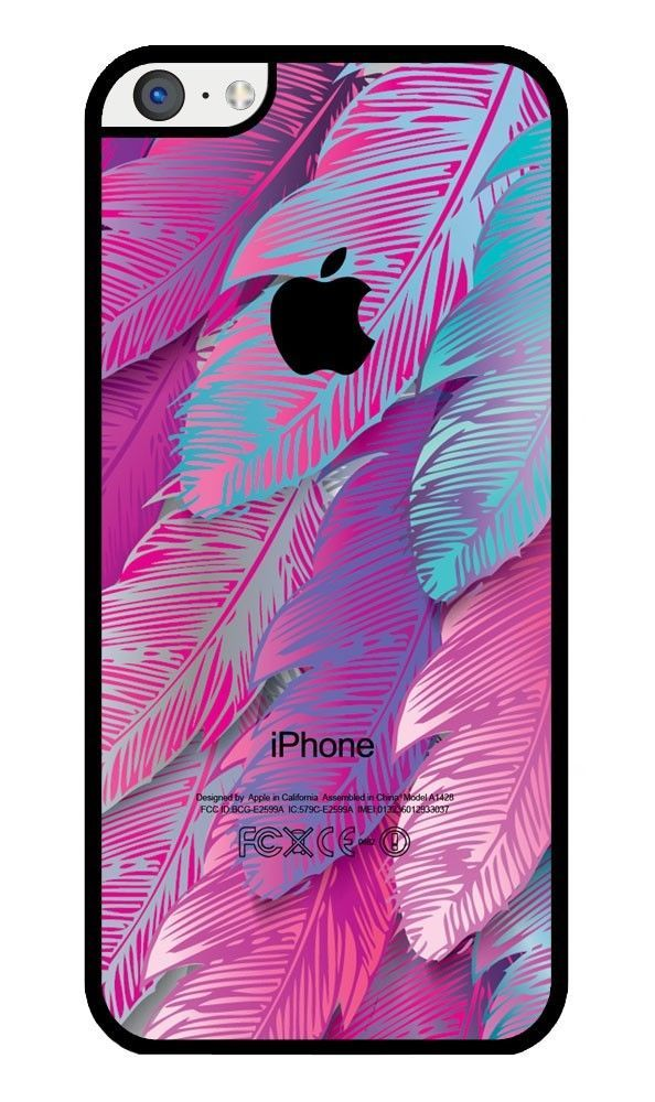 Pink Feather Rubber iPhone 5C case. Protective Cover Case #iZERCASE
