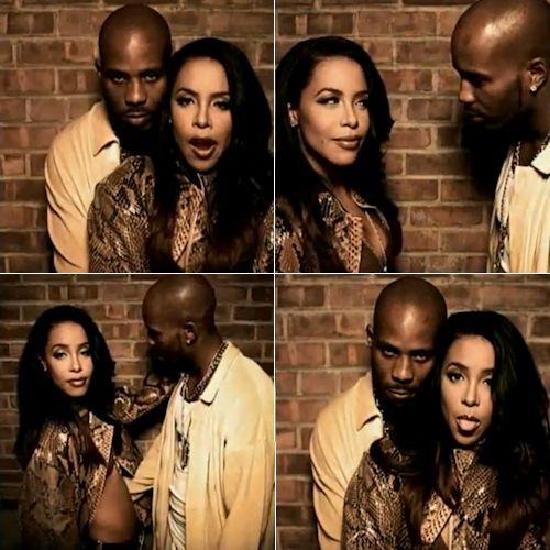 DMX and Aaliyah photo shoot