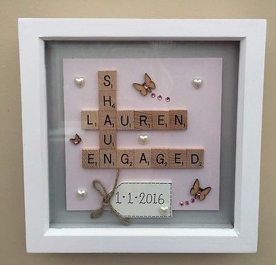 details about box frame scrabble letters valentine family wedding anniversary engagement gift