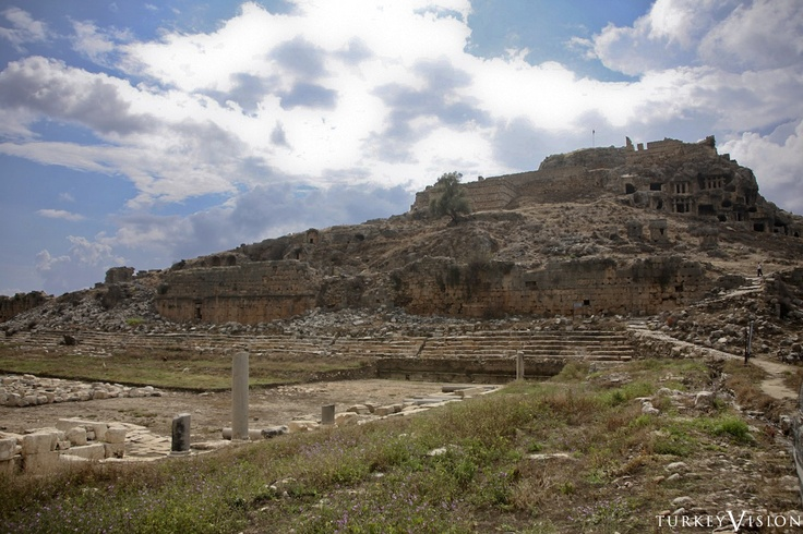 Stadium of #Tlos, The #stadium, which was supported by the walls, contained 14 rows of seats. #archeology