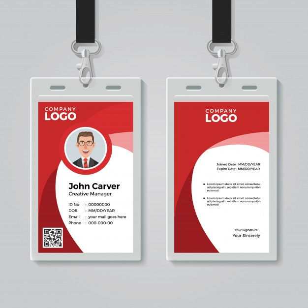 Id Card Template Id Card Template Corporate Id Free Business Card Templates