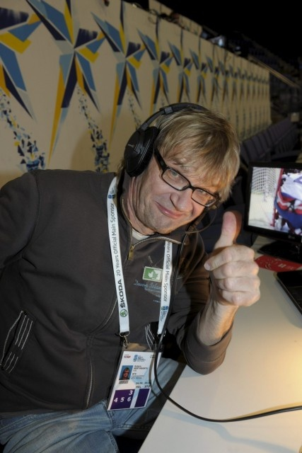Finnish sports commentator Antero Mertaranta. Antero's language does not go to the node. Rarely you meet this fast-speaking Finns.