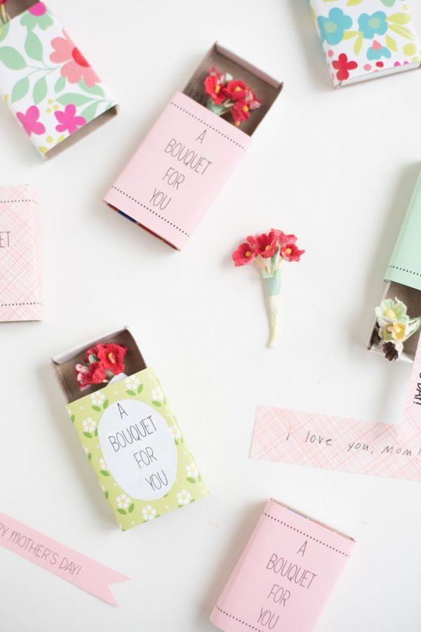 Mother's Day Matchbox Bouquets DIY