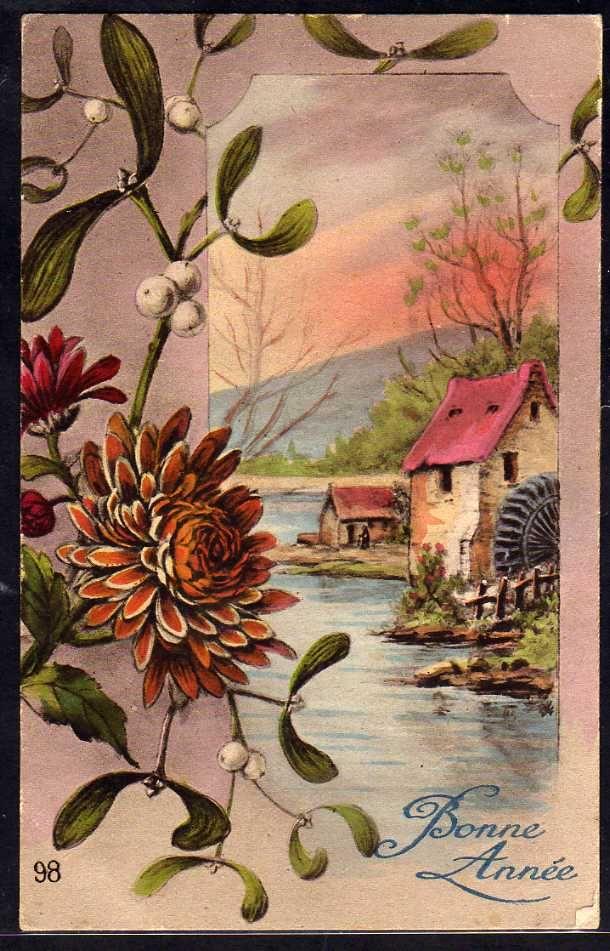 Ослинник распускается, авито винтажные открытки