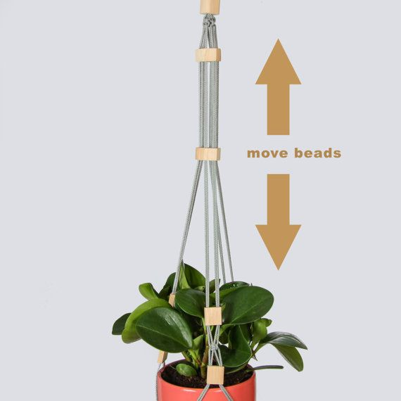 Küche Dekor  Grau Perlen hängen Pflanzer  grau von DanceOfTheSoul