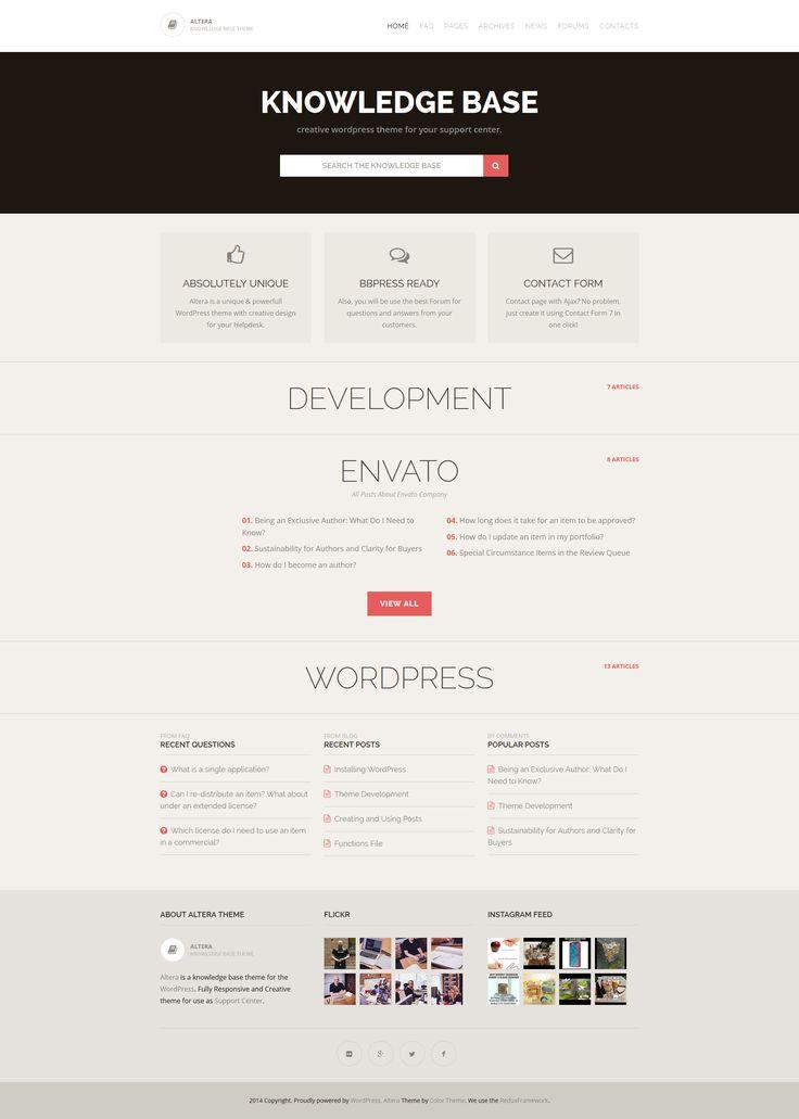 Altera - Knowledge Base WordPress Theme by ZERGE | ThemeForest