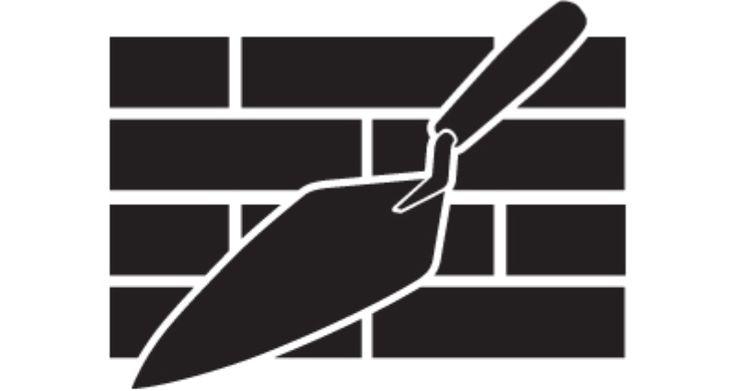 Masonry Trowel Logo : Logo bricklayer trowel by rabbidgoose viantart on