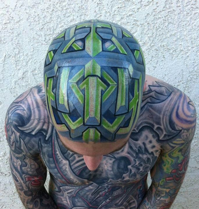 76 best tattoo images on pinterest for Full head tattoo