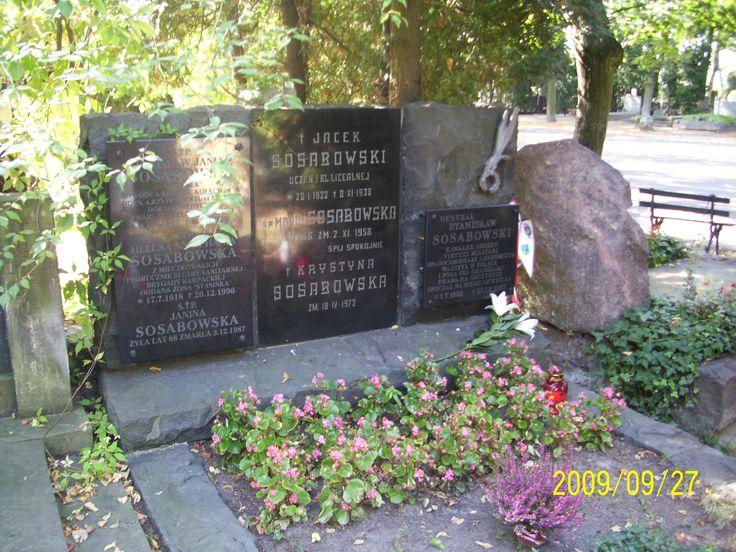 Gen.Sosabowski Rodzinny grób Generała na Powązkach w Warszawie