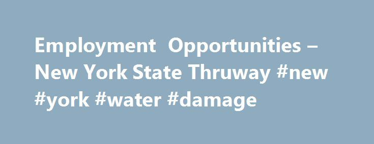 Employment Opportunities – New York State Thruway #new #york #water #damage http://miami.remmont.com/employment-opportunities-new-york-state-thruway-new-york-water-damage/  # Employment Opportunities The New York State Thruway is an equal opportunity/affirmative action employer. New York State Human Rights Law prohibits discrimination based on age, race, creed, color, national origin, sexual orientation, military status, sex, disability, marital status, gender identity, prior arrests, prior…