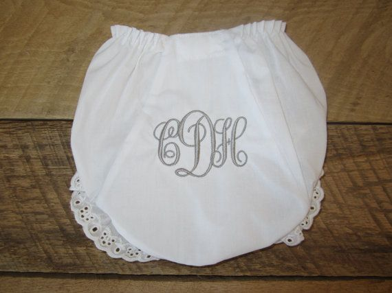 164 best baby gifts images on pinterest baby gifts personalized monogrammed baby bloomers monogrammed diaper by theinitialgift negle Image collections