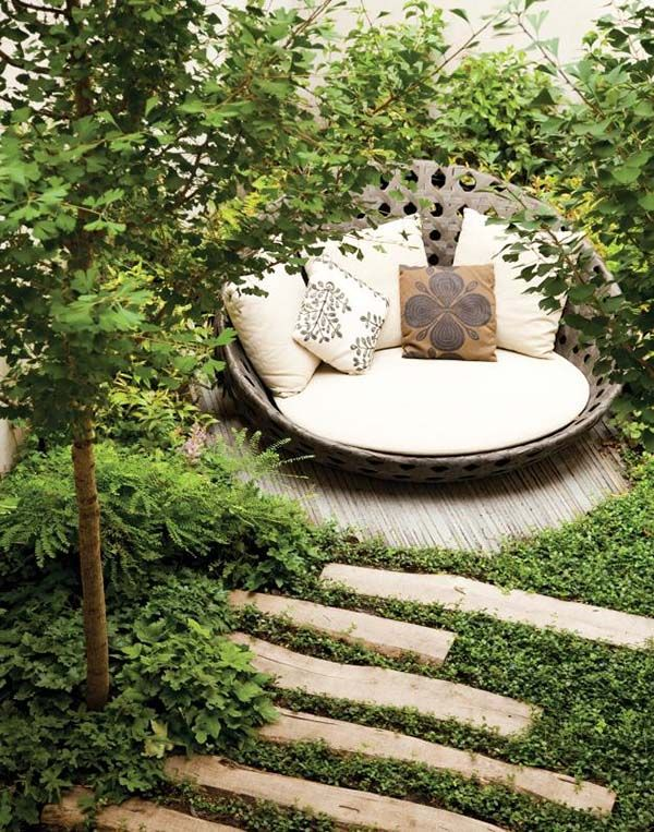 Create a quiet, inspiring place in the yard to get away from everything. An outdoor book nook is the perfect place to escape.