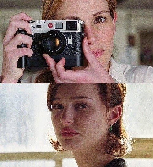 Julia Roberts e Natalie Portman em uma das mais belas cenas de Closer.
