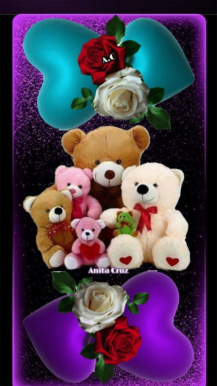 Pin By Floricelda On Buenos Días A Todos Y Buenas Noches Beautiful Flower Drawings Heart Wallpaper Teddy Bear Pictures