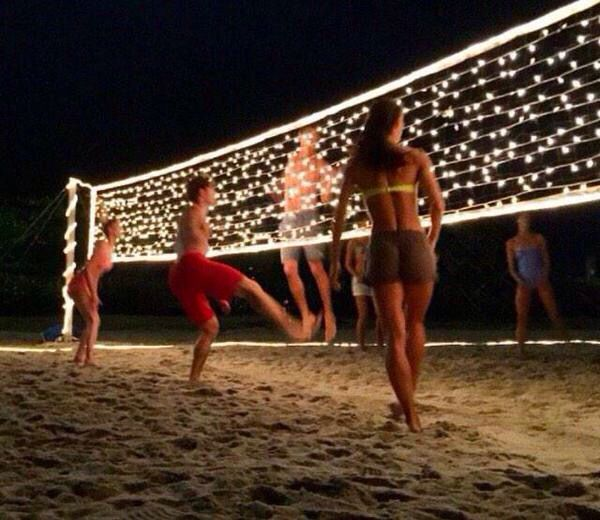Volleyball in the dark