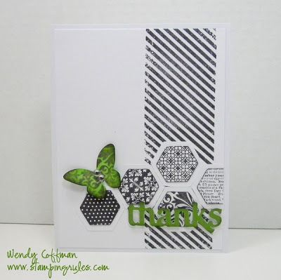 Stamping Rules!: Tuesday Tips CASE hexagon thanks CTMH card