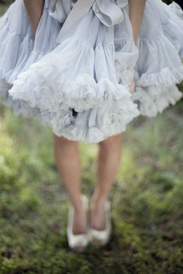 Reminds me of my ruffled undies I wore backwards so I could see the ruffles, when I was a little girl