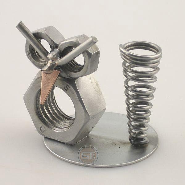 IJzersterkegeschenken.nl - Cadeau beeldje - Pennenstandaard Uil - t2602 - Origineel cadeau - Unieke metalen beeldjes