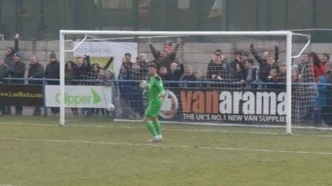 Guiseley AFC with some of the most unsporting behaviour I have ever seen...