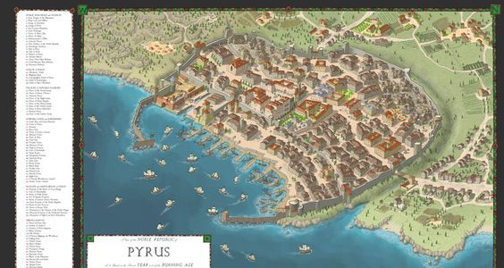 GREAT site for world-building map ideas! —The Cartographers' Guild — (image: The City Of Pyrus By TheHoarseWhisperer)