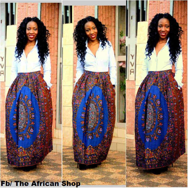Etole Skirt by THEAFRICANSHOP on Etsy, £40.00