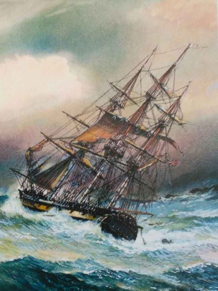 Rough Seas | Old sailing ships, Ship paintings, Sailing ships