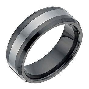 Tungsten & Black Ceramic Ring - Product number 1337823