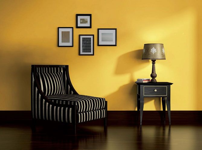 #peinture #jaune #cadres #fauteuil