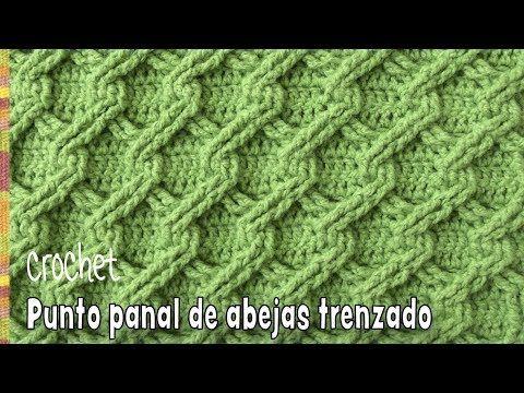 Punto panal de abejas 3D trenzado tejido a crochet – Tejiendo Perú – YouTube