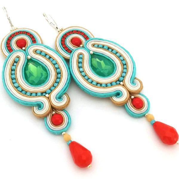 Soutache earrings - Statement earrings - Soutache jewelry - Sculptural earrings   SABO Design